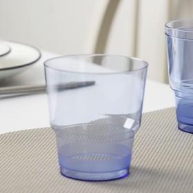 Стакан одноразовый «Кристалл», 200 мл, цвет синий, 50 шт/уп