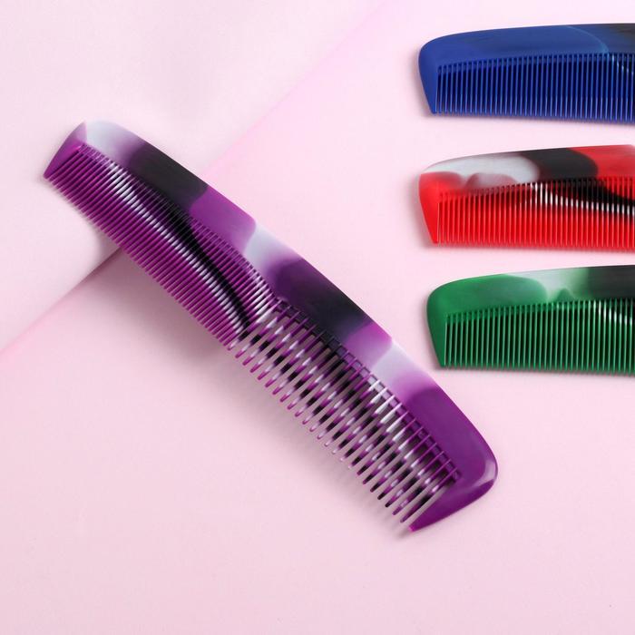 Расчёска комбинированная, 20 × 4,7 см, цвет МИКС