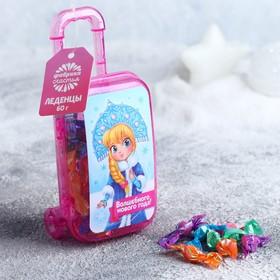 Чемодан с леденцами «Волшебного Нового года»: в чемодане, 60 г
