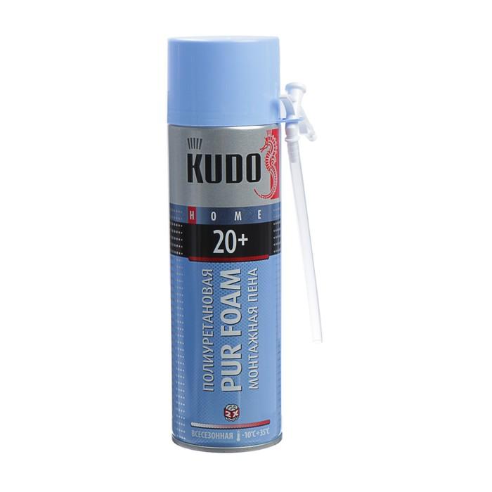 Монтажная пена KUDO HOME20+, всесезонная, выход 20 л, 650 мл