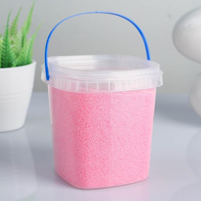 Свеча насыпная, в гранулах, в банке с 12 фитилями, розовая, 9,5×9,5×10 см