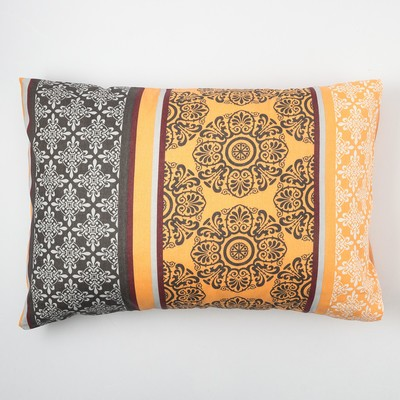 "Pillow case and I Save 50×70 ""Tenderness"" of the flowers.orange, 120 g/m2, 100% cotton, calico"