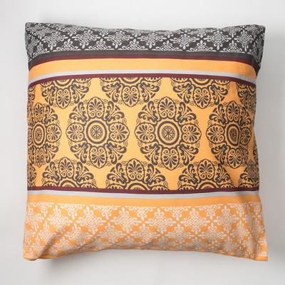 """Pillowcase Economize and I 70×70 """"Tenderness"""" of the flowers.orange, 120 g/m2, 100% cotton, calico"""