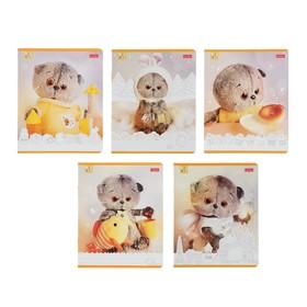 Тетрадь А5, 18 листов в линейку «Кот Басик», обложка мелованный картон, МИКС