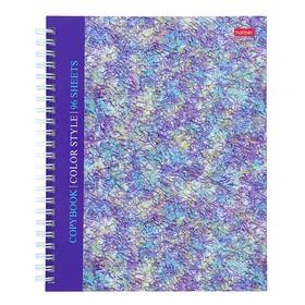 Тетрадь А5, 96 листов в клетку, на гребне Color book, твёрдая обложка