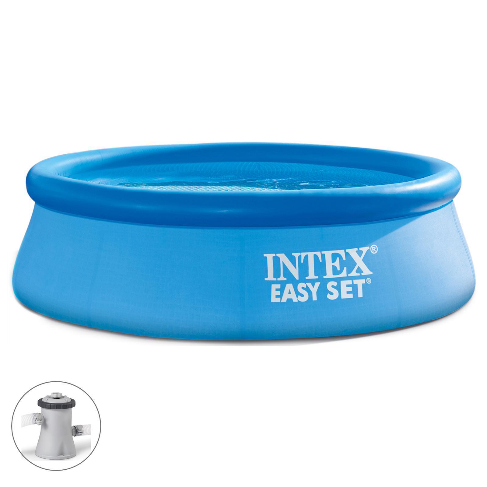 bc2bb194099ff Бассейн надувной Easy Set, 244х76 см, фильтр-насос 28112 INTEX ...