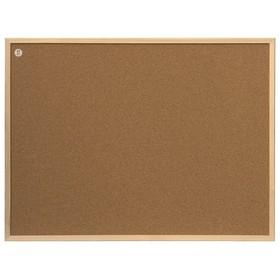 """Доска пробковая + Гвозди канцелярские 80 x 60 см """"2х3"""" ECO, в деревянной рамке"""