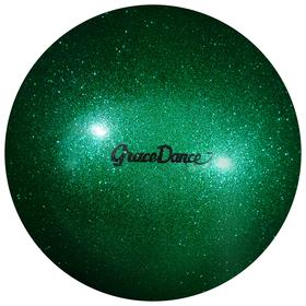 Мяч для художественной гимнастики, блеск, 18,5 см, 400 г, цвет изумрудный