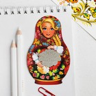 Bookmark photo etched parts Russia in my heart (flowers), 3.5 x 2.7 cm