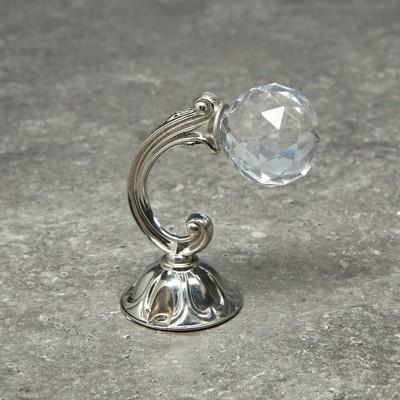 Крючок для штор KS008, однорожковый, цвет хром