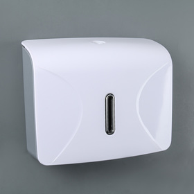 Dispenser for paper towels in sheets, plastic white