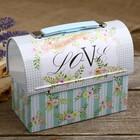 "Piggy Bank metal box ""Flowers. Love"" 13,2х17х8,5 cm"