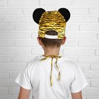 """Карнавальный костюм """"Тигр"""", манишка, шапка, р. 32 - фото 105520838"""