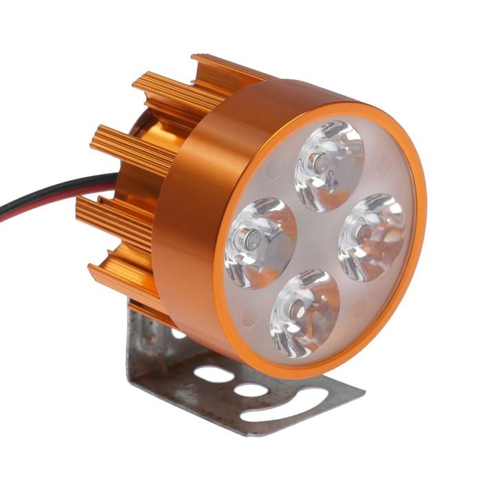 Фара cветодиодная для мототехники, 4 LED, IP67, 4 Вт, направленный свет - фото 798280548