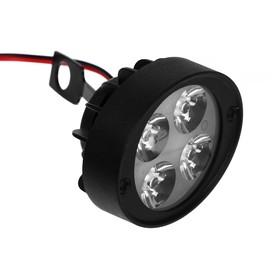 Led headlight for motorcycle, 4 LED, IP67, 12V directional light