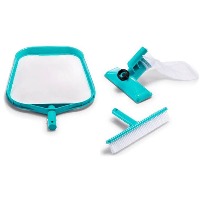 Набор для чистки бассейна, сачок, щётка, насос, 29056 INTEX