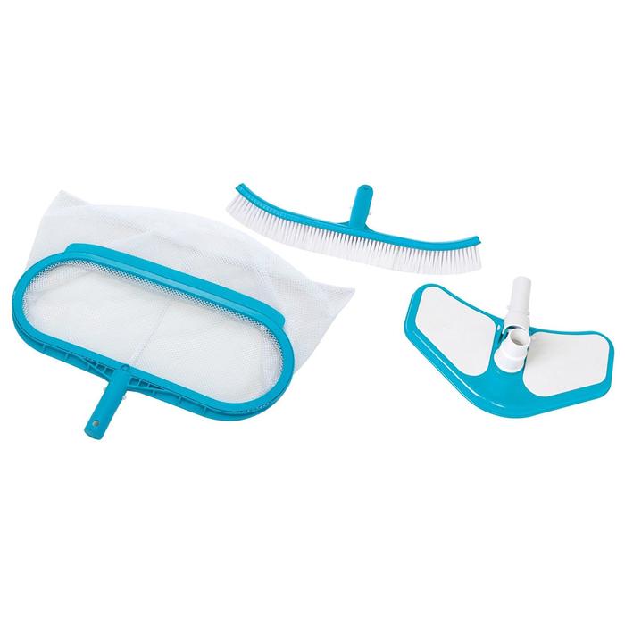 Набор для чистки бассейна Deluxe, сачок, щётка, насос, 29057 INTEX