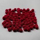 Набор текстильных деталей для декора «Бомбошки» 100 шт. набор, размер 1 шт: 1 см, цвет рубиновый - фото 105691347