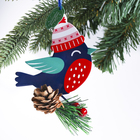 Подвеска на ёлку рождественская «Снегирь»