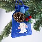 Подвеска-мешочек на ёлку «Счастливого Рождества!»