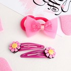 """Set of hair """"baby"""" flowers (2 Bobby pins, 2 elastic bands) mix"""
