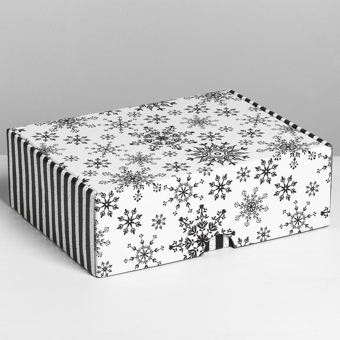 Коробка складная «Снежная», 30,7 х 22 х 9,5 см - фото 282123190