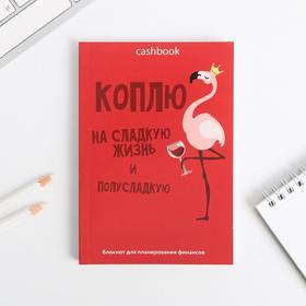 Умный блокнот CashBook А6, 68 листов «Коплю на сладкую жизнь»