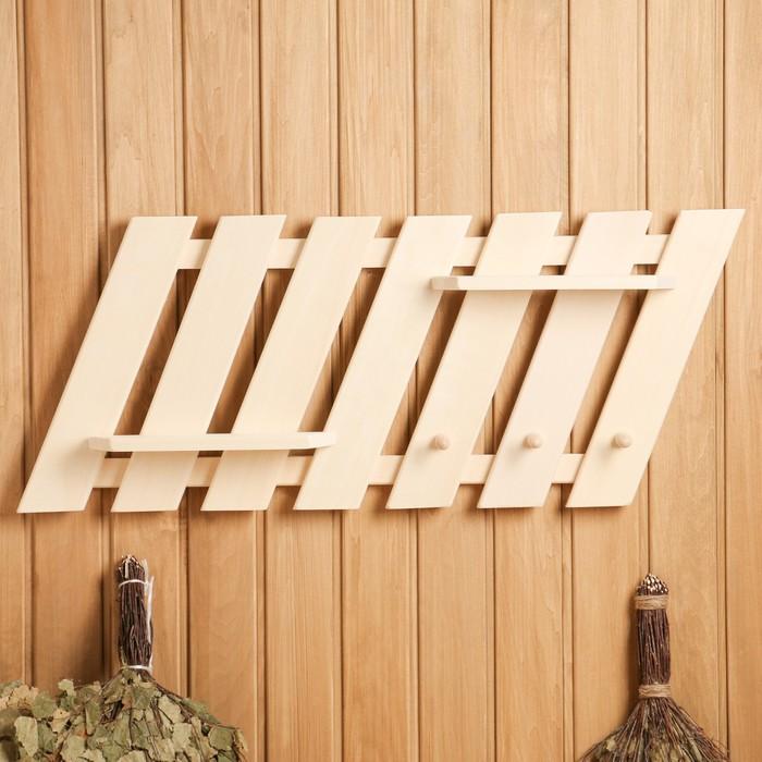 """Полка- вешалка """"Зебра"""", 3 крючка, 90×35×12 см"""