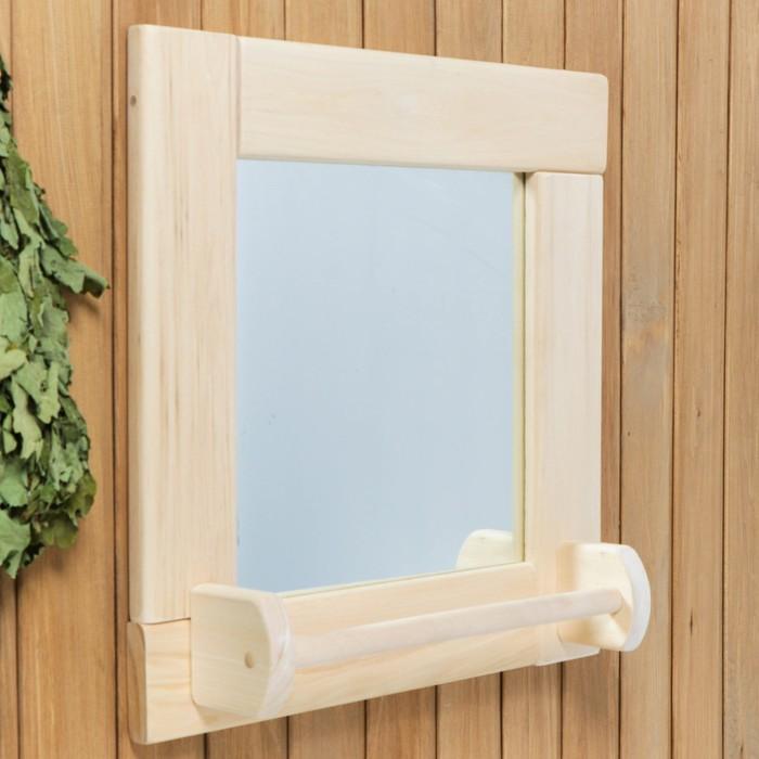 Зеркало квадратное, большое с сушилкой, 53×53×1,6 см