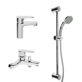 Набор смесителей SONAS SH494, 3 в 1, для раковины, для ванны, душевая стойка, хром