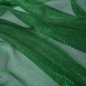 Трикотаж плательный, сетка, ширина 150 см, цвет зелёный Ош