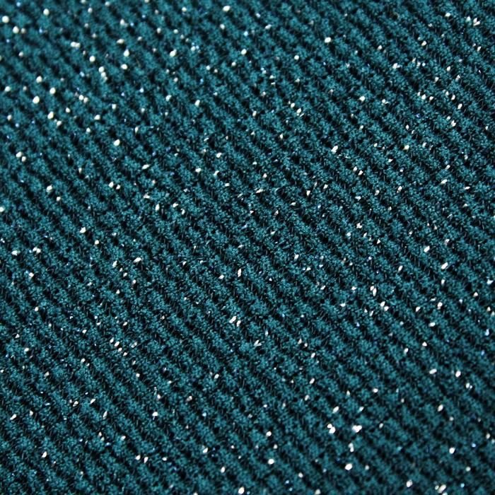 Трикотаж плательный с люрексом, ширина 150 см, цвет изумрудный