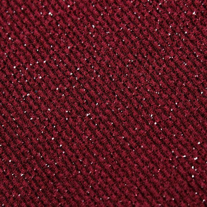 Трикотаж плательный с люрексом, ширина 150 см, цвет бордовый