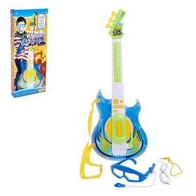 Гитара «Крутой Рокер», звуковые эффекты, с микрофоном и очками