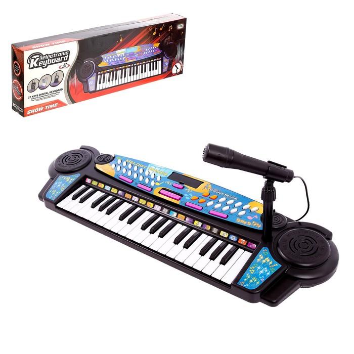 Синтезатор «Яркие впечатления», 37 клавиш, с MP3, с микрофоном