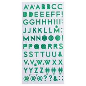 "Стикеры-алфавит Sticko ""Green"" 92 шт"