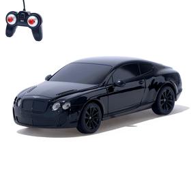 Машина радиоуправляемая Bentley Continental, 1:24, работает от батареек, свет, цвет чёрный, mz 27040