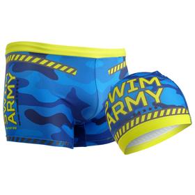 Комплект для плавания детский (плавки+шапочка) для мальчиков, размер 30, рост 122 см