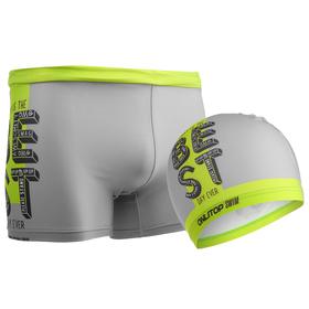 Комплект для плавания детский (плавки+шапочка) для мальчиков, размер 28, рост 116 см