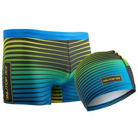 Комплект для плавания детский (плавки+шапочка) для мальчиков, размер 32, рост 128 см