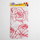 "Tablecloth ""Roses"" 108х180 cm, color red"
