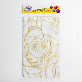 Скатерть «Розы», 108х180 см, цвет жёлтый