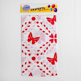 Скатерть «Бабочка», 108х180 см, цвет красный
