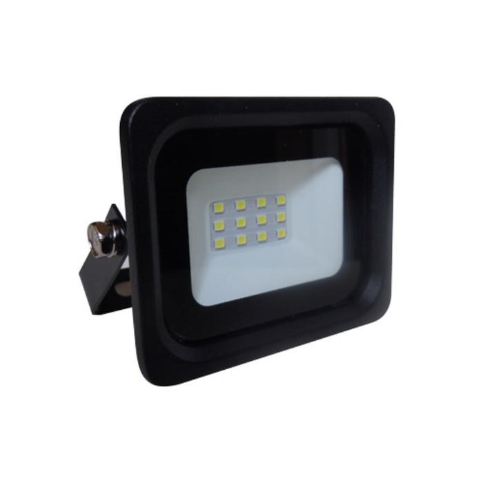 Прожектор светодиодный 61180-10, 10Вт, 6500К, 800Лм, цвет чёрный