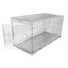 Клетка для собак с мет. поддоном, 40 х 82 х 42 см, хром