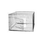 Клетка для собак с мет. поддоном, 120 х 80 х 80 см, шагрень светлое серебро