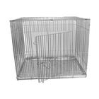 Клетка для собак с мет. поддоном, 50 х 70 х 55 см, шагрень светлое серебро