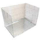 Клетка для собак с мет. поддоном, 90 х 60 х 55 см, шагрень светлое серебро