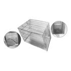 Клетка для собак, скошенная крыша, 2 двери, 90 х 60 х 64 см, шагрень светлое серебро