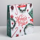 Пакет ламинированный вертикальный «С Новым годом», M 26 × 30 × 9 см